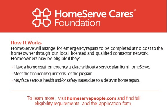 HomeServe Cares Foundation - How It Works